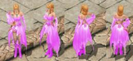 female violet dress
